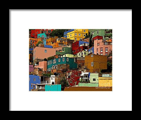 Darian Day Framed Print featuring the photograph Guanajuato Hillside 4 by Mexicolors Art Photography