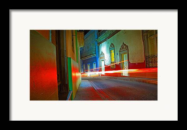 Shadow Framed Print featuring the photograph Guanajuato Night by Skip Hunt