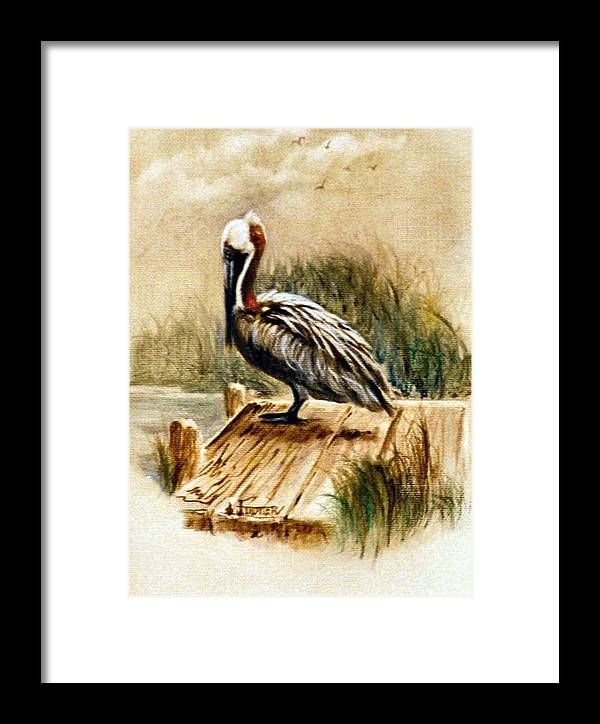 Wild Life Framed Print featuring the painting Guard Duty by Jimmie Trotter