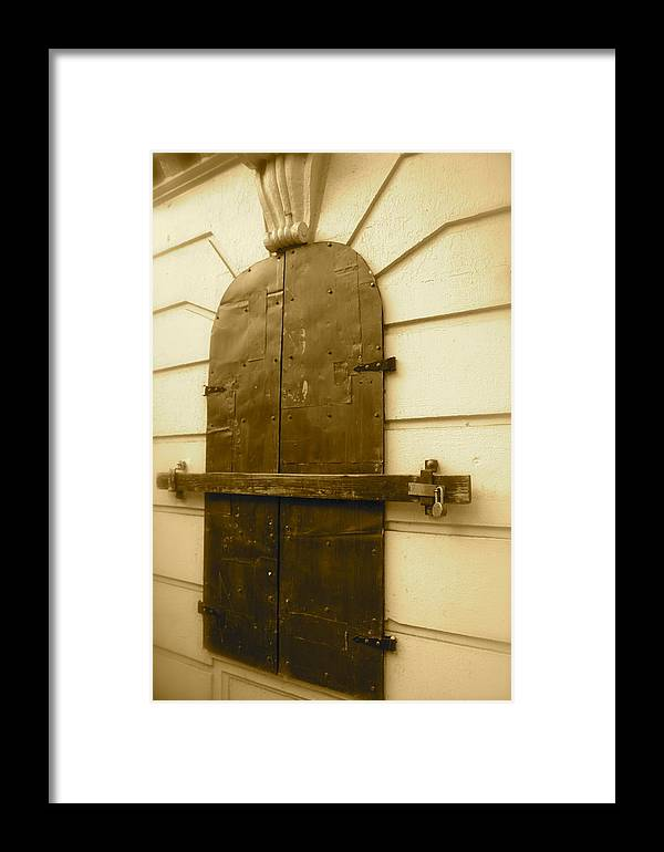Locked Door Image Framed Print featuring the photograph Guarded Heart by Matthew Kennedy