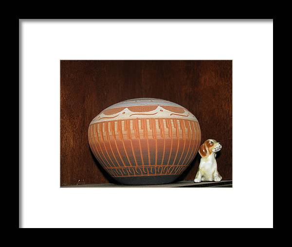 Dog Framed Print featuring the photograph Guardian 2 by Belinda Consten