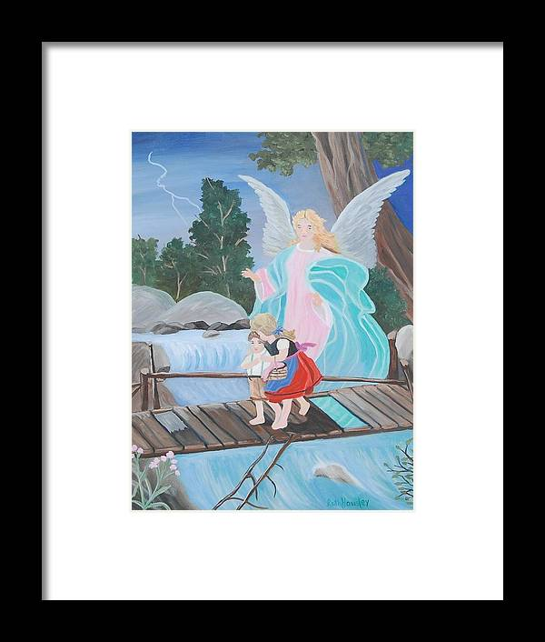 Landscape Framed Print featuring the painting Guardian Angel Donated by Ruth Housley