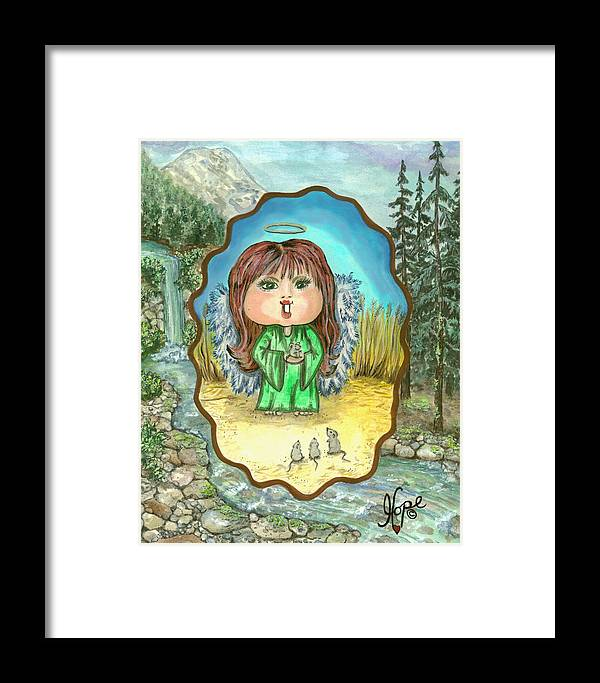 Angel Framed Print featuring the painting Guardian Angel Gentleness by Carolyn Hope