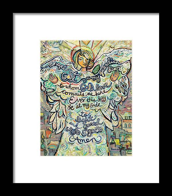 Guardian Angel Framed Print By Jen Norton