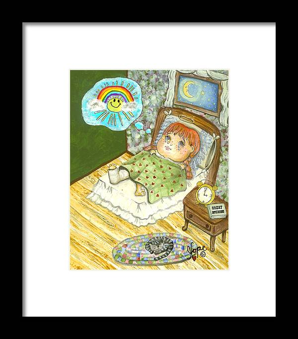 Angel Framed Print featuring the painting Guardian Angel Patience by Carolyn Hope