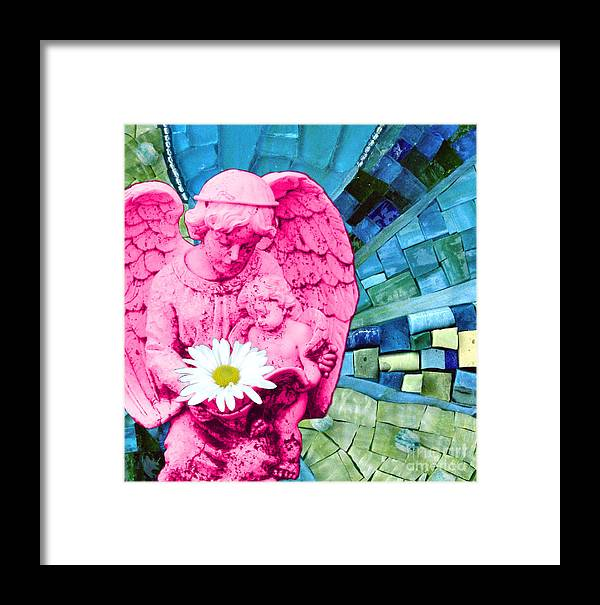 Pink Framed Print featuring the photograph Guardian Angel by Valerie Fuqua