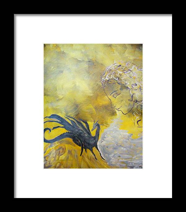 Mystical Framed Print featuring the painting Guardian by Cary Singewald
