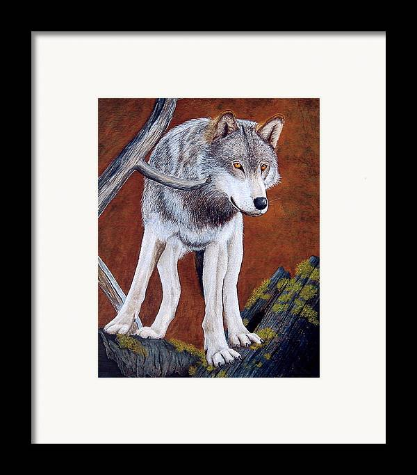 Guardian Framed Print featuring the mixed media Guardian Of The Den by Lorraine Foster