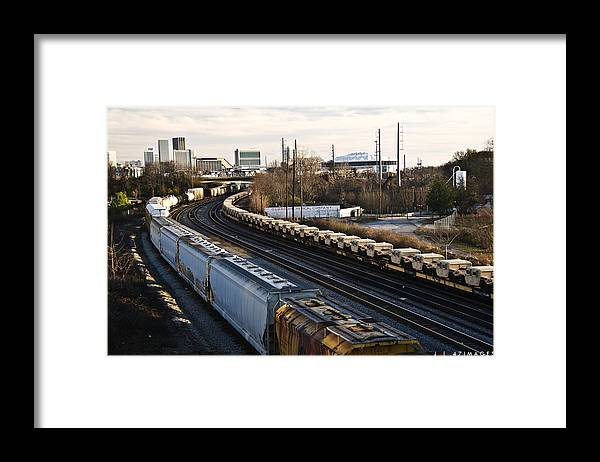 Train Framed Print featuring the photograph Guardians by Jonathan Keys