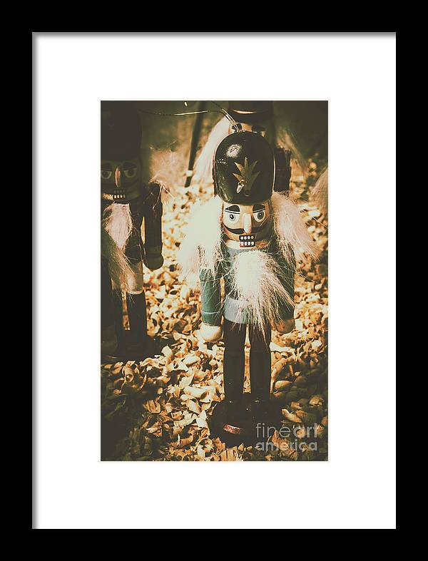 Nutcrackers Framed Print featuring the photograph Guards Of Nutcracker Way by Jorgo Photography - Wall Art Gallery