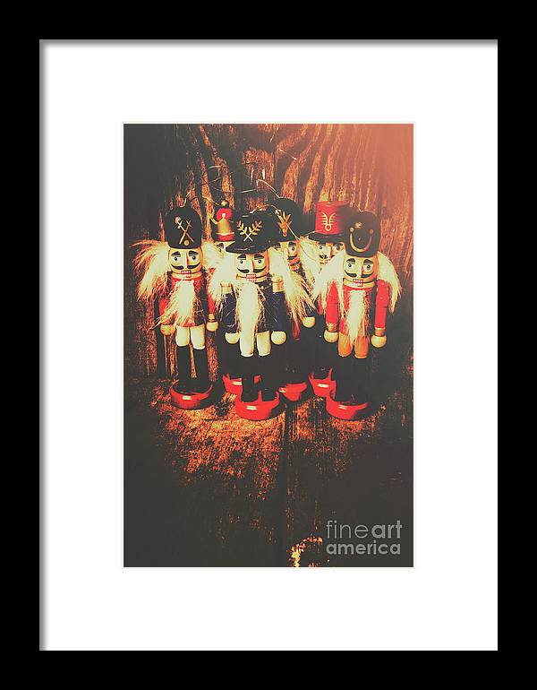 Antique Framed Print featuring the photograph Guards Of The Toy Box by Jorgo Photography - Wall Art Gallery