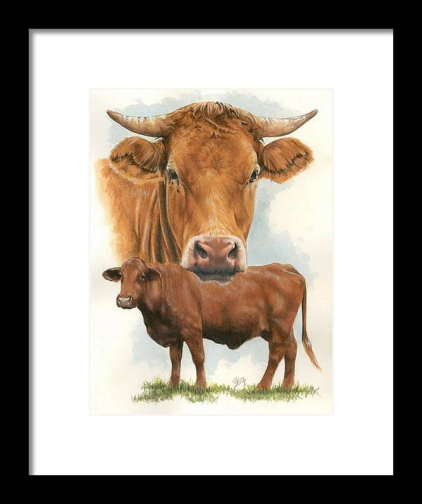 Cow Framed Print featuring the mixed media Guernsey by Barbara Keith