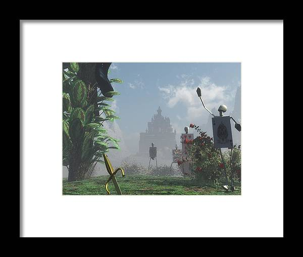 Fairy Tale Framed Print featuring the digital art Guess Who Is Coming To Dinner by Margaret Wingstedt
