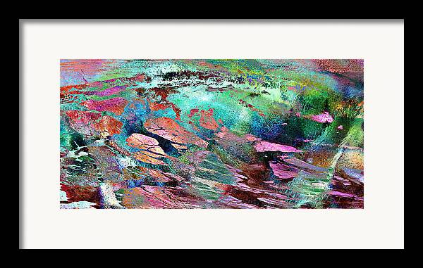 Large Abstract Framed Print featuring the mixed media Guided By Intuition - Abstract Art by Jaison Cianelli