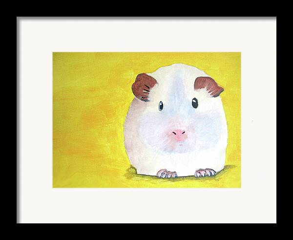Guinee Framed Print featuring the painting Guinee Pig by Darren Stein