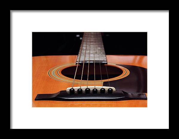 Andee Design Guitar Framed Print featuring the photograph Guitar 12 by Andee Design