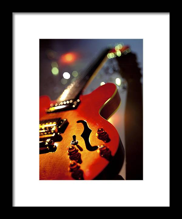 Guitar Framed Print featuring the photograph Guitar by Robert Ponzoni