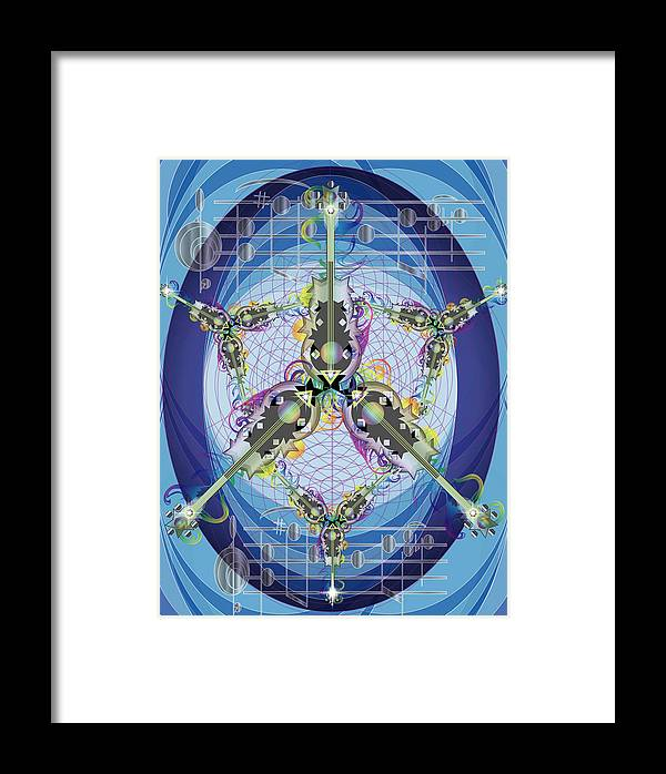 Jazz Framed Print featuring the digital art Guitars In Space by George Pasini
