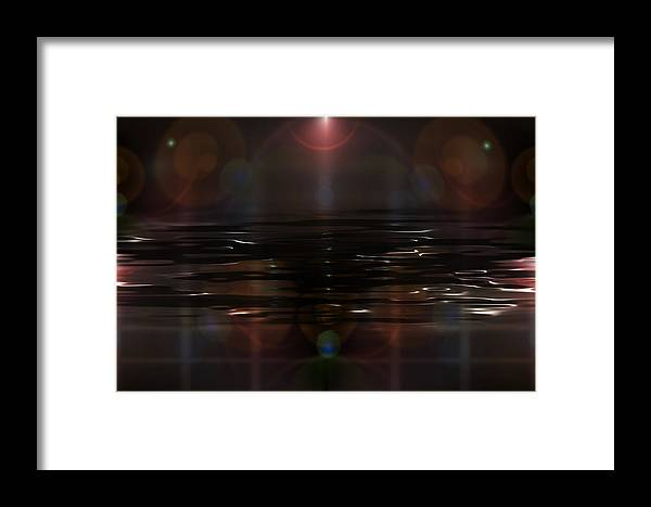 Heal Framed Print featuring the digital art Gulf Prayer by Holly Ethan