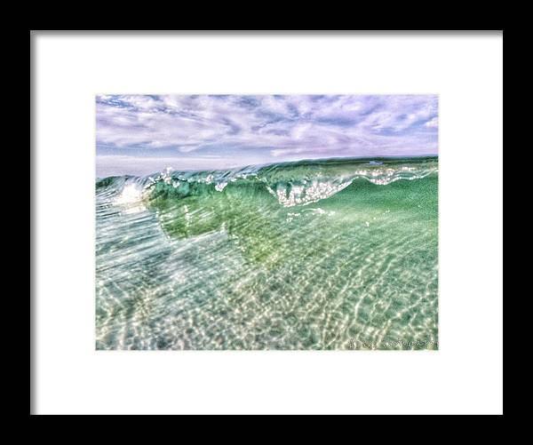 Waves Framed Print featuring the photograph Gulf Waves by Allen Williamson