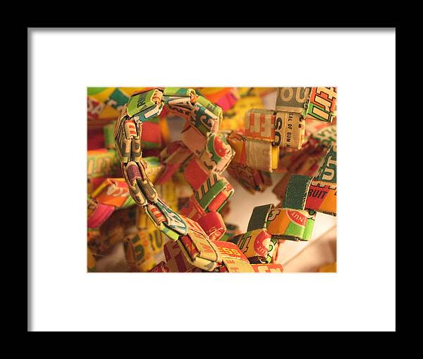 Gumball Chain Framed Print featuring the photograph Gumball Chain by Susie DeZarn