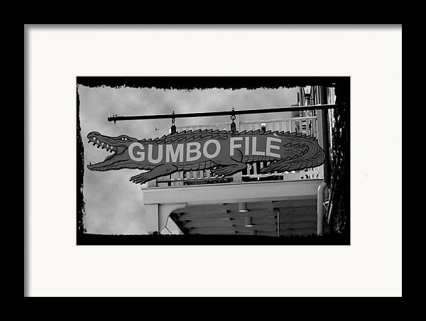 New Orleans Framed Print featuring the photograph Gumbo File by Linda Kish