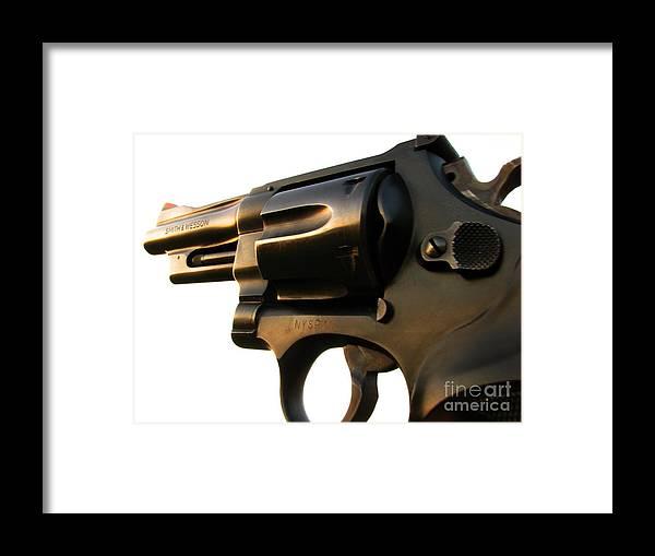 Gun Framed Print featuring the photograph Gun Series by Amanda Barcon