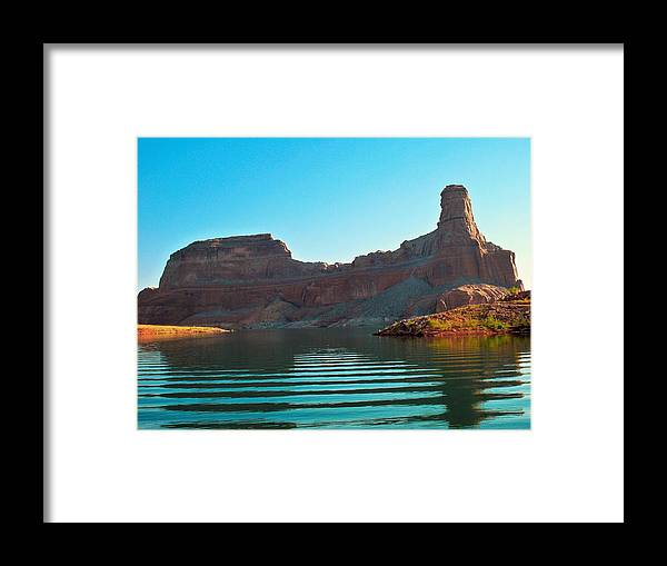 Gunsight Framed Print featuring the photograph Gunsight Dawn by Michael Bergman