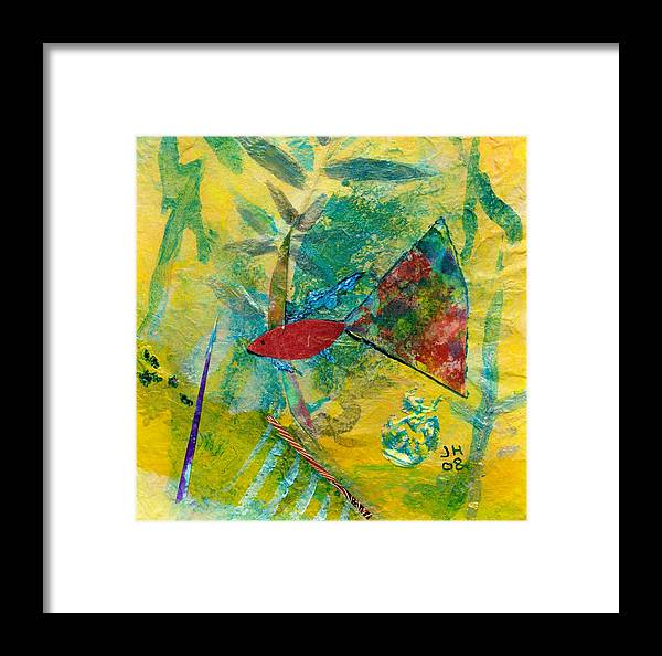 Abstract Art For Sale Framed Print featuring the painting Guppy by Jerry Hanks