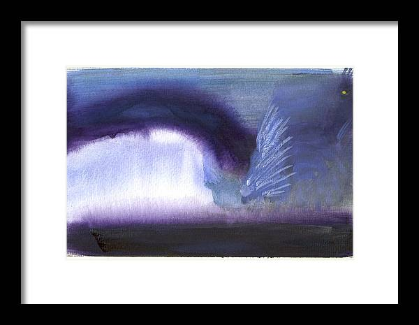 Abstract Landscape Framed Print featuring the painting Gurardian Of The Light by Yolanda Lange