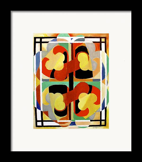 Omnipotence Framed Print featuring the painting Gyenyameduamframmadan by G Cuffia
