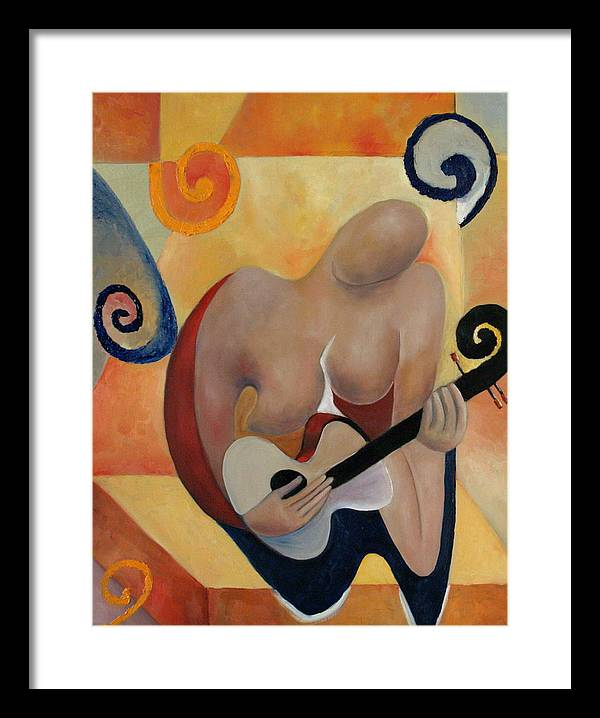 Music Framed Print featuring the painting Gypsy Blues by Niki Sands