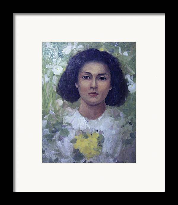 Portrait Framed Print featuring the painting Gypsy Girl by James Stuart Park