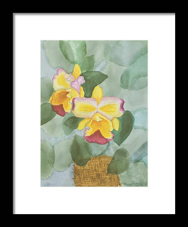 Orchids Framed Print featuring the painting Gypsy Orchids by Peggy King