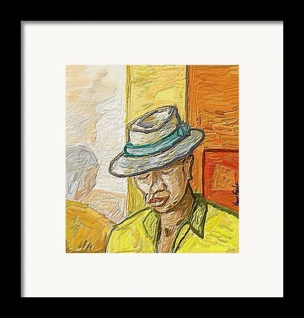 Figurative Framed Print featuring the painting Habana by Xavier Ferrer