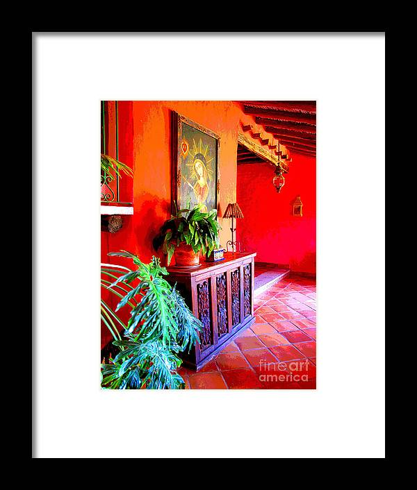Darian Day Framed Print featuring the photograph Hacienda By Darian Day by Mexicolors Art Photography
