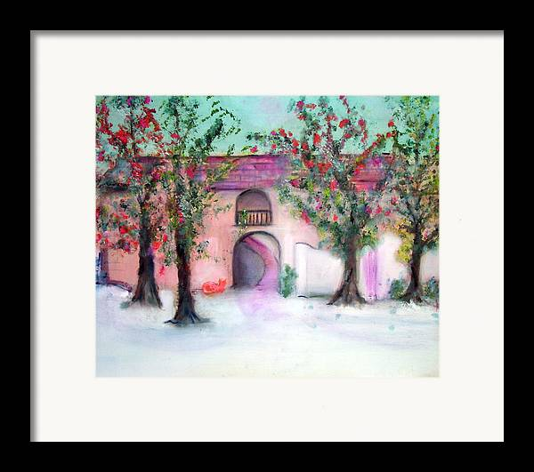 Hacienda Framed Print featuring the painting Hacienda by Michela Akers