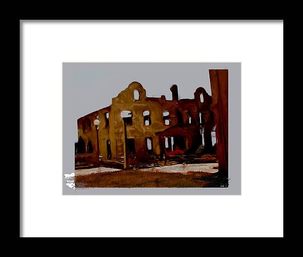 Mission Framed Print featuring the painting Hacienda Mission by Maribel McIntosh