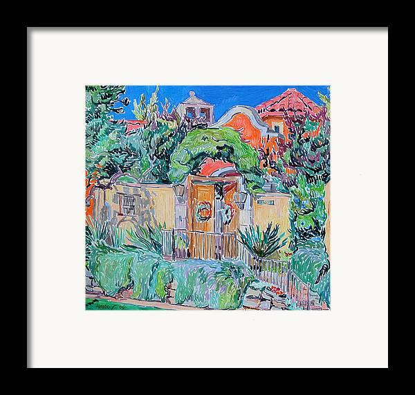 Hacienda Framed Print featuring the painting Hacienda by Vitali Komarov