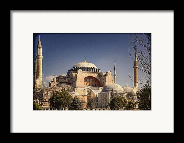 Hagia Sophia Framed Print featuring the photograph Hagia Sophia by Joan Carroll