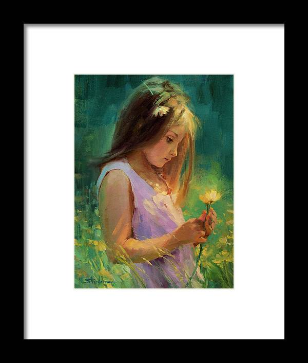 Girl Framed Print featuring the painting Hailey by Steve Henderson