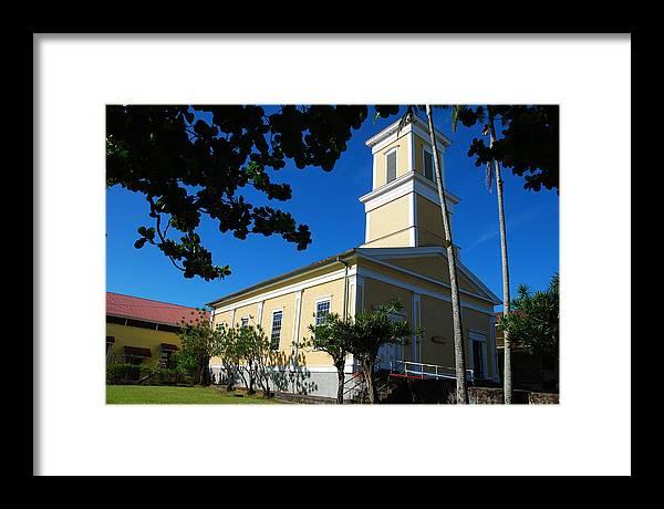 Christian Framed Print featuring the photograph Haili Church - Hilo Hawaii by Steven Rice