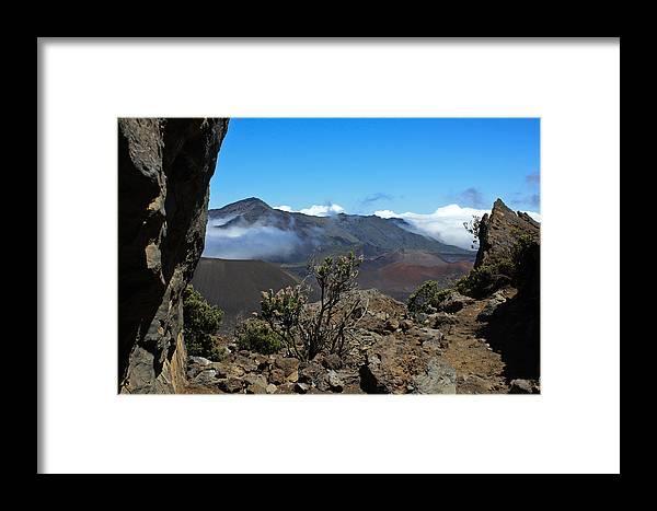 Hawaii Framed Print featuring the photograph Haleakala Overlook by Brenda Smith