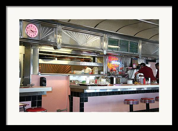 Framed Print featuring the painting Haledon Diner by Randy Ford