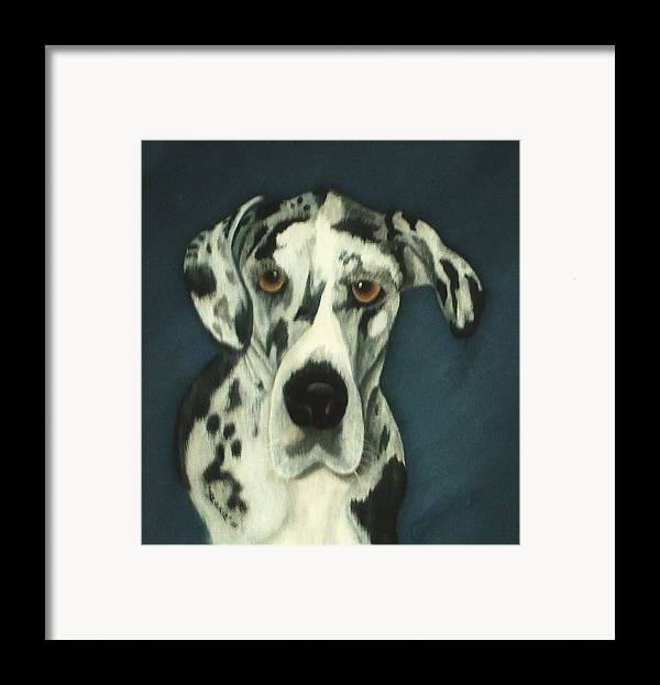 Portraites Framed Print featuring the painting Haley by Rebecca Fitchett