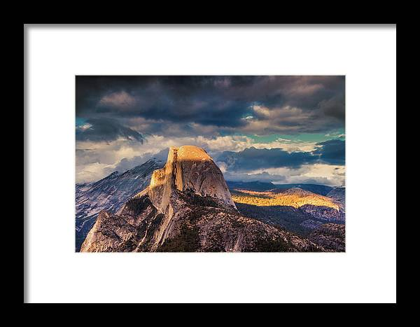 Yosemite Framed Print featuring the photograph Half Dome by Andrew Soundarajan