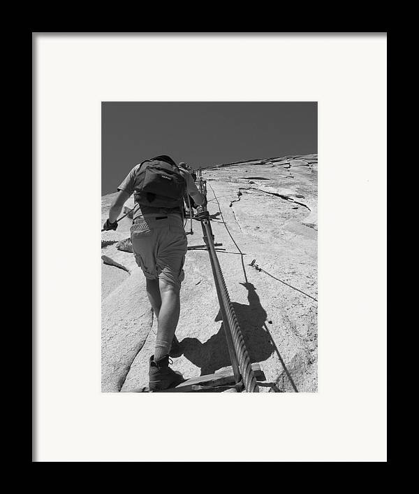 Half Dome Framed Print featuring the photograph Half Dome Cables by Travis Day