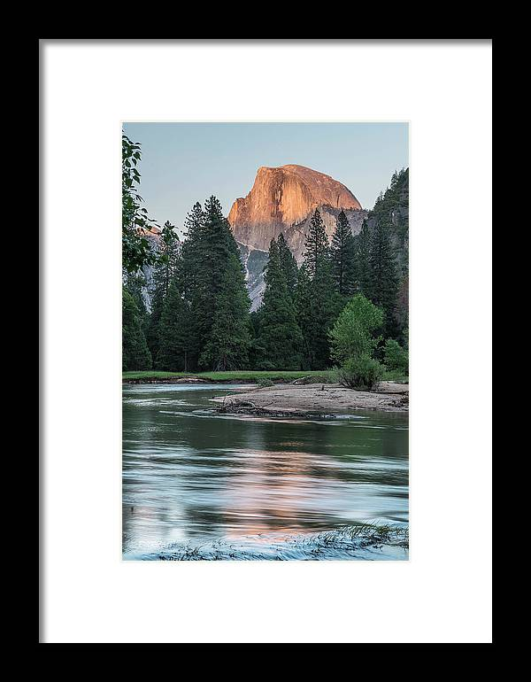 California Framed Print featuring the photograph Half Dome In Evening Light by Bill Roberts