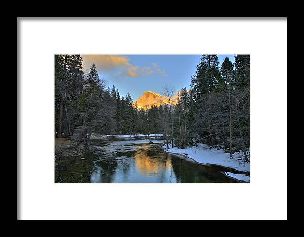 Yosemite Framed Print featuring the photograph Half Dome Of Gold by Paul Owen