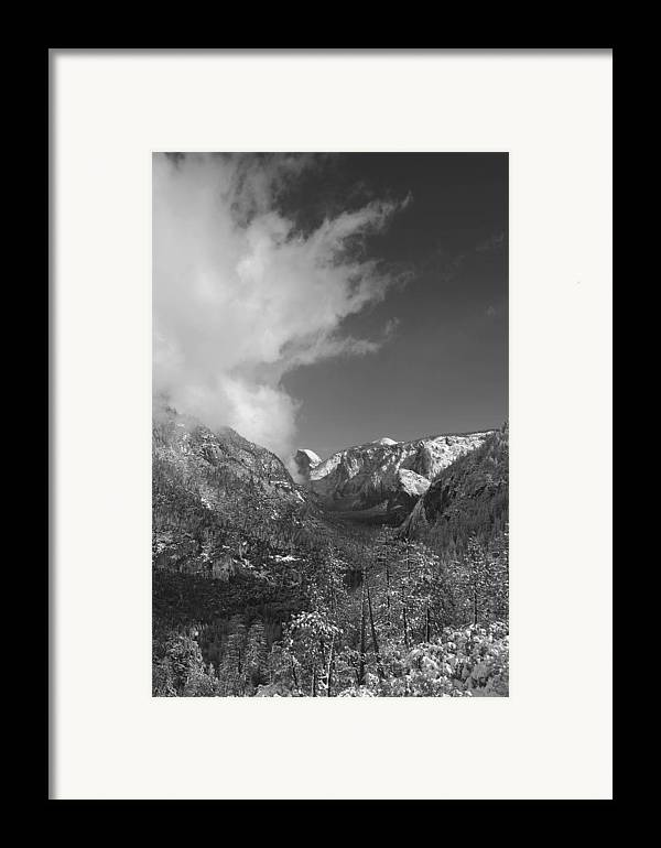 Half Dome Framed Print featuring the photograph Half Dome Winter by Travis Day
